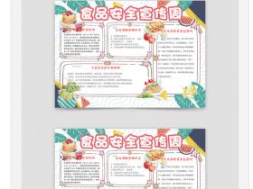 小学生幼儿园安全食品宣传周手抄报小报Word模板