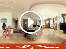 360全景视频 VR女孩 玛格丽特 喜欢脱了衣服在家走来走去