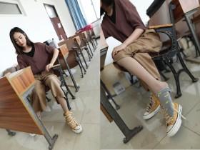 丝丝入口 丝袜棉袜帆布鞋