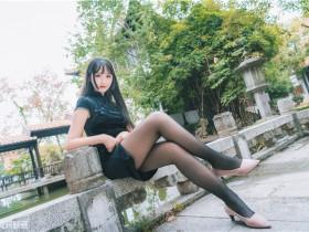 兔玩映画 - 黑色旗袍游园会