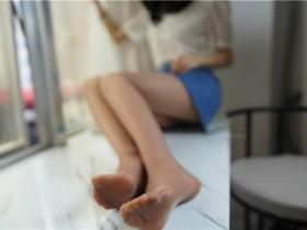 [萌甜物语]XM138《蓝裙OL装-腿腿》 图套+视频