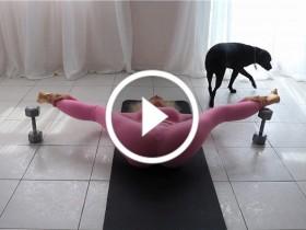 美女性感瑜伽健身视频 No.129